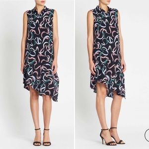 EQUIPMENT Dress Tira Ribbon Eclipse Print Silk Sm